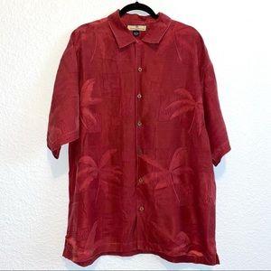 Tommy Bahama 100% Silk Short Sleeve Dutton Down